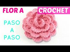 Crochet Flowers Easy Flor a crochet paso a paso sin perder detalle ENGLISH subtitles - Crochet Diy, Bandeau Crochet, Crochet Simple, Crochet Gifts, Learn To Crochet, Crochet Dolls, Crochet Puff Flower, Crochet Flower Tutorial, Crochet Butterfly