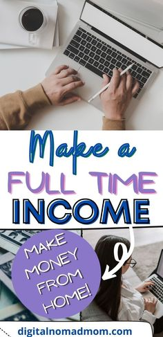 Learn how you can make a 6 figure income from home! It takes hard work, but you can make a full time income from home!