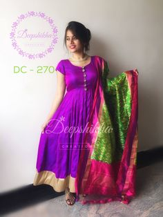 DC - 270 For queries kindly inbox or Email - deepshikhacreations@gmail.com  Whatsapp / Call - +919059683293 27 June 2016 Dress Indian Style, Indian Dresses, Indian Outfits, Dress Neck Designs, Blouse Designs, Anarkali Dress, Saree Gown, Gown Dress, Blouse Dress