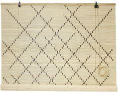 Slats Boho natural bamboo diagonal 160x120