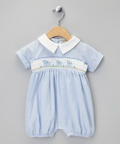 65d34ca586a Take a look at this Blue Elephants Smocked Bubble Romper - Infant by Classy  Couture on