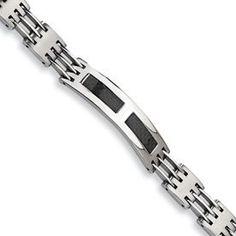 Stainless Steel Carbon Fiber Bracelet Goldfinger. $19.75. Black Carbon Fiber. Brushed and Polished. Fold-over. Stainless Steel. Save 75%!