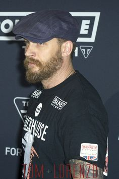 Tom Hardy at the Triumph Motorcycles Global Bonneville Launch