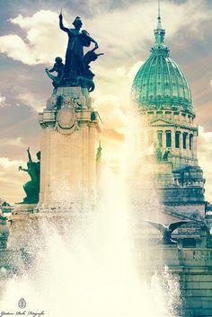 Congreso de la Nación. Argentina Argentine Buenos Aires, Southern Cone, Art Nouveau Arquitectura, Drake Passage, South America Travel, Amazing Architecture, Oh The Places You'll Go, Beautiful Landscapes, World