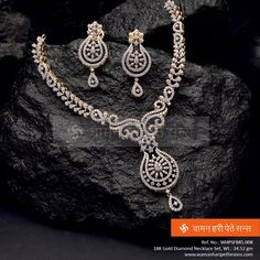 Buy Special Occasion Designer Necklace & Jewelry From Sheetal Diamonds. Here you will find beautiful handmade necklaces for your wedding or other special occasion. Diamond Earrings Indian, Diamond Necklace Set, Diamond Pendant, Diamond Jewelry, Gold Jewelry, Gold Necklace, Gold Earrings Designs, Necklace Designs, Jewellery Sketches