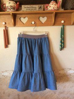 02/14...light weight denim skirt for me - mid knee length