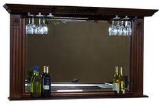 Napoli Back Bar Mirror w Stemware Holders