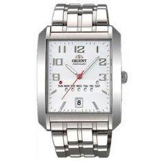 #Orient #Day&Date Men white Dial Silver Strap square Shape - SFPAA002W7 online india