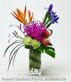 small tropical flower arrangements - Google Search