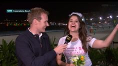 Rowdy bachelorette party crashes late-night Olympics coverage Image: BBC  By Brian Koerber2016-08-14 15:05:19 UTC  Theres no telling what will happen on live TV especially late at night.  BBC Four was covering the Rio Olympics late into the evening on Saturday when a loud group of people interrupted the taping. BBC presenter Dan Walker quickly realized the rowdy crowd was part of a bachelorette (hen) party that was celebrating an upcoming marriage.  But instead of ignore the chaos Walker…