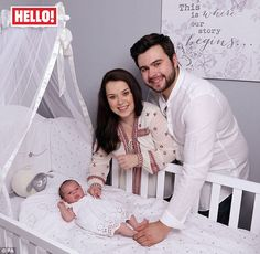 So cute: Dani Harmer and her boyfriend Simon Brough have introduced their daughter Avarie-Belle Betsy Rachel Brough for the first time as the actress revealed she had an emergency C-section