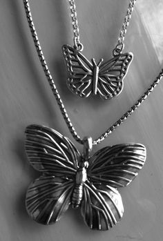 butterflies for spring http://www.ravishdesigns.com.au/jewellery/necklaces/pnp222-oxidised-sterling-silver-large-butterfly