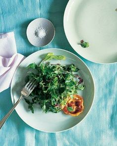 Easter Side Dishes // Pea Shoots, Crisped Pancetta, and Mint Vinaigrette Recipe