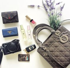 What's in lady Dior bag What In My Bag, What's In Your Bag, Inside My Bag, Lady Dior, Luxury Bags, You Bag, Mary
