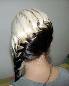 my hair are these exact colors and I LOVE doing this to my hair!