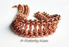 Jpl Combo Mini-Cuff Chainmaille Bracelet - Copper