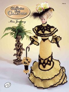 Barbie Crochet:  The Edwardian Lady Going Away Frock Miss January 1996.  $3.95 on e-PatternsCentral