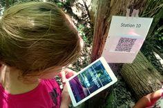 QR-Code Rallye im Wald. Codes, Aktionen und Anleitung  #Wald #Medienpädagogik #Pädagogik #Hort #Tablet #Kinder