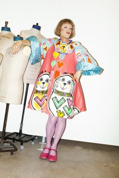 The Grayson Perry Project photo shoot for i-D online Colourful Outfits, Colorful Fashion, Grayson Perry, Fashion Prints, Fashion Design, Fashion Art, Club Kids, Advanced Style, Weird Fashion