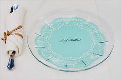 personalized wedding plates