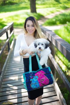 Laurel Burch 'Blossoming Pups' tote available at: Shopsunnsand.com