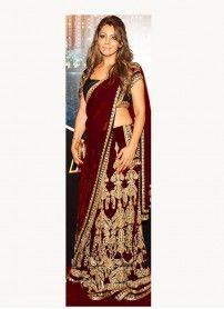 Latest Arrival Designer Maroon Lehenga Choli By Kmozi..  http://www.kmozi.com/bollywood-replica/online-shopping-bollywood-actress-lehenga-choli/latest-arrival-designer-maroon-lehenga-choli-by-kmozi-1274