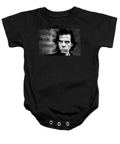 Purchase a baby onesie featuring the image of Nick Cave by Taylan Soyturk.  Available in sizes S - XL.  Each onesie is printed on-demand, ships within 1 - 2 business days, and comes with a 30-day money-back guarantee.