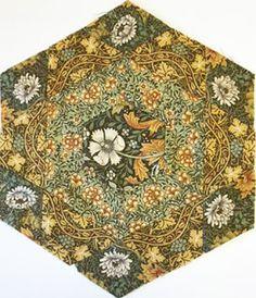 Ilyse Moore's Hexathon Block 7 using Vine Tapestry