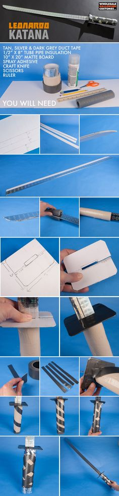 Use this DIY to learn how to make Leonardo's katana from TMNT! If you're into all things Teenage Mutant Ninja Turtles then you're going to love this simple craft!