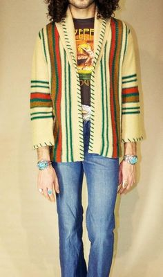 New Fashion Mens Hippie Ideas Bohemian Style Men, Hippie Style, Hippie Men, Hippie Boho, Men Sweater, Sweater Jacket, Winter Fashion Casual, Hippie Outfits, Gentleman Style