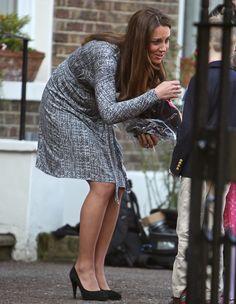 Kate Middleton or Catherine, Duchess of Cambridge, leaves Hope House in London, United Kingdom on February 19, 2013
