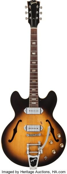 Musical Instruments:Electric Guitars, 1969 Gibson ES-330 Sunburst Hollow Body Electric Guitar, S...