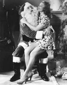 Santa gets all the chicks… pinup christmas