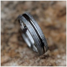 *LIMITED TIME* Save on all during our Spring Sale! Don't settle for an ordinary wedding band when you can get one that is Out-Of-This-World! Custom Wedding Rings, Wedding Bands, Wedding Stuff, Meteorite Wedding Band, Gibeon Meteorite, Don't Settle, Thing 1, Dinosaur Bones, Spring Sale