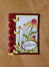 Handmade all occasion Card kit -live with passion-md w/ mostly stampin up produc