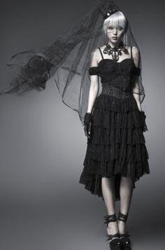 Punk-Rave-Gothic-Lolita-Kleid-Victorian-Steampunk-Dress-Spitze-Jaquard-Dark-Q203