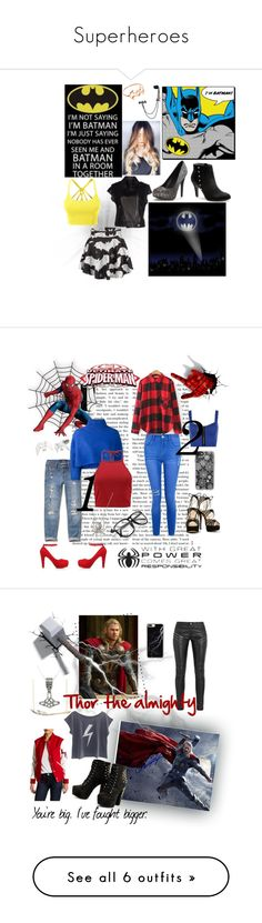 """""""Superheroes"""" by zebralover-333 ❤ liked on Polyvore featuring LE3NO, Luxury Fashion, LC Lauren Conrad, York Wallcoverings, WithChic, Hai, Hollister Co., Vika Gazinskaya, Boohoo and J. Herwitt"""