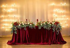 Виктория Хухрева Wedding Beauty, Dream Wedding, Wedding Colors, Wedding Flowers, Red Wedding Decorations, Reception Party, Wedding Flower Inspiration, Sweetheart Table, Table Flowers