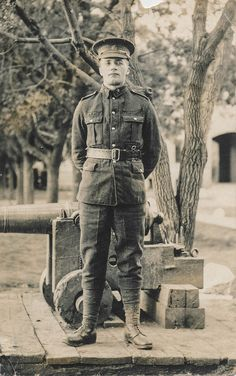 A World War I soldier, possibly Canadian