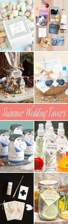 So many unique and fun summer #wedding favor ideas! Visit the Evermine Blog to get inspired, then shop online at www.Evermine.com to add custom favor tags and labels to match your wedding theme or colors.