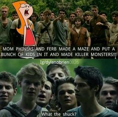 Thomas sangster is Ferb. Why he did it to himself? WHY?!?! Killing is not good... *the feels*