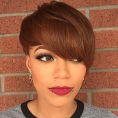 short+brown+hairstyle+for+black+women