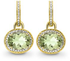 Kiki McDonough Classic Green Amethyst Diamond Earrings