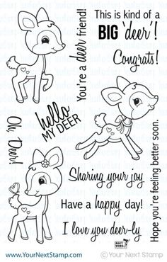 Your Next Stamp OH DEER Clear Stamp Set CYNS206 at Simon Says STAMP!