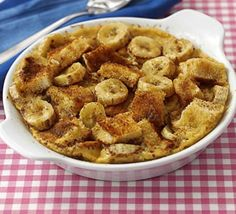 Banana Bread and Butter Pudding - Microwave Recipe - alter to lower calories