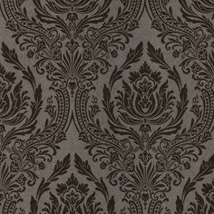 """Brewster Home Fashions Kitchen and Bath Resource II 33' x 20.5"""" Damask 3D Embossed Wallpaper"""