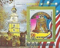 Stamp: Liberty Bell (Equatorial Guinea) (American Bicentenary (II)) Mi:GQ BL168,Sn:GQ 75-71,Yt:GQ PA48 (BF1)