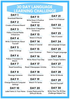 Check out this awesome 30 Day Language Learning Challenge! Each day learn new language learning tips. This is one of the most effective ways to learn a foreign language. Best Language Learning Apps, Learning Languages Tips, Spanish Language Learning, Korean Learning Apps, Languages To Learn, Learning Japanese, Kids Learning, Learn Another Language, Learn Foreign Language