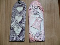 mixed media bookmarks