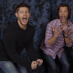 Jensen & Jared impersonating Fangirls. So funny and cute. They love their fans.
